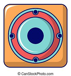 Speaker icon, cartoon style