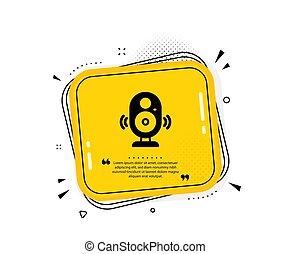 Speaker icon. Computer component sign. Sound symbol. Vector