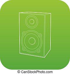 Speaker icon green vector