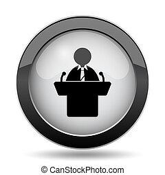 Speaker icon. Internet button on white background.