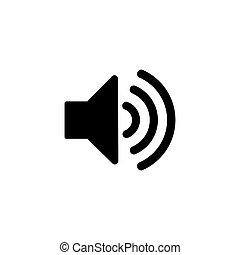 Speaker icon isolated on white background