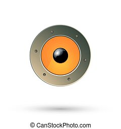Speaker icon isolated