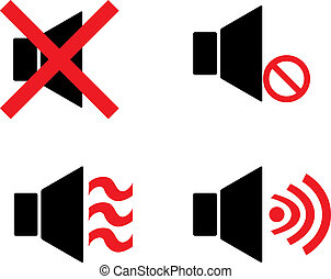 speaker icon mute and active