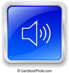 Speaker icon on blue button