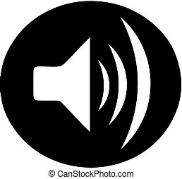 speaker icon on white background