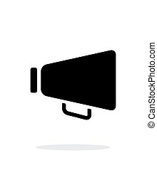 Speaker icon on white background.