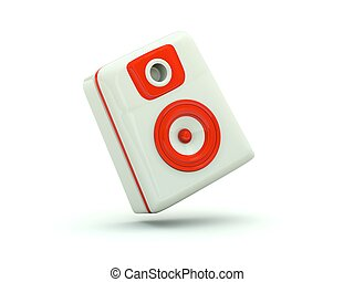 Speaker icon. Red series