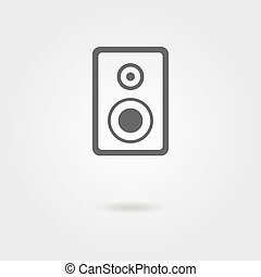 speaker icon with shadow