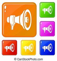 Speaker icons set color