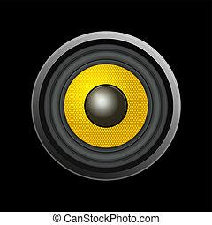Speaker Isolated on Black Background