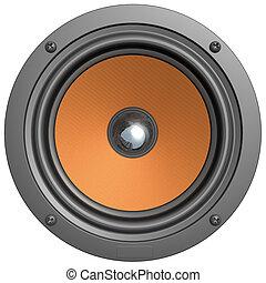 Speaker - isolated on white background, high detailed