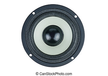 Speaker isolated on white background. Top view