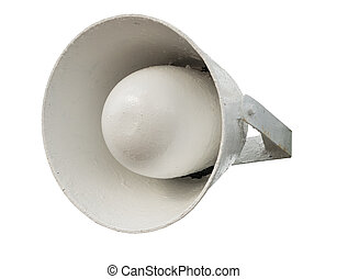 Megaphone isolated over white