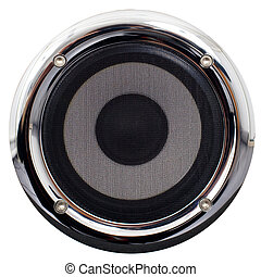 Speaker on a white background - Round speaker with the ...