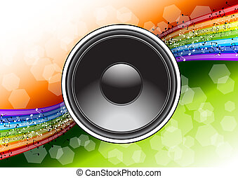 speaker on the full color background