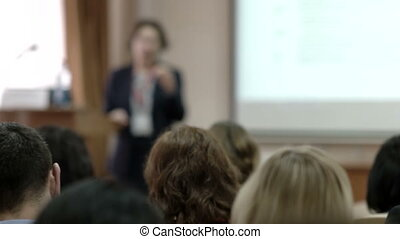 Speaker presentation at the conference