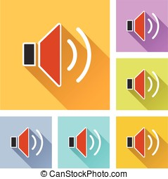 speaker set icons