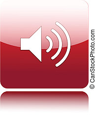 Speaker sign on red