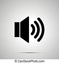 Speaker simple black icon