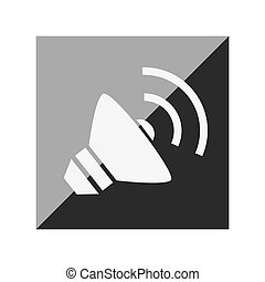 speaker sound isolated icon