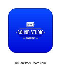 Speaker sound studio icon blue