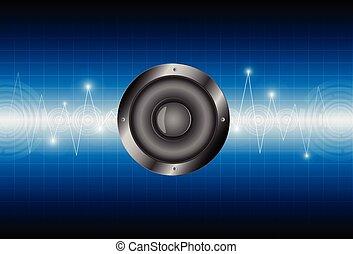 speaker sound wave background