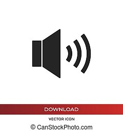Speaker vector icon, volume symbol in modern design style for web site and mobile app