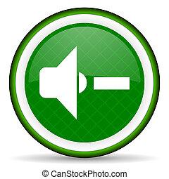 speaker volume green icon music sign