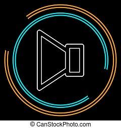 Voice mail icon  speaker symbol  audio message  download arrow