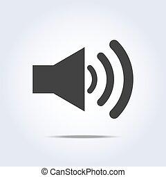 Speaker volume icon gray colors. Vector illustration