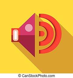 Speaker volume icon in flat style