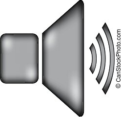Speaker volume icon sign.