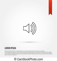 Speaker volume icon.