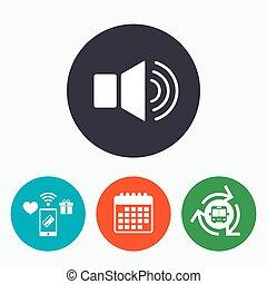 Speaker volume sign icon. Sound symbol.
