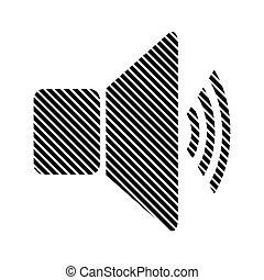 Speaker volume sign.