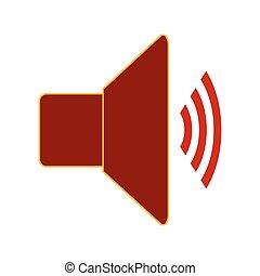 Speaker volume symbol icon.
