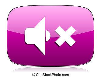 speaker volume violet icon music sign