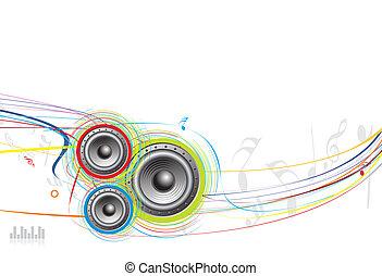 wave line background - speaker wave line background with ...