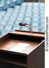 speaker's, ペーパー, テキスト, 可能, テーブル, あなたの