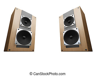 Speakers - 3D render of speakers