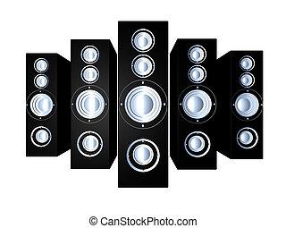 Speakers - Black 1 - Some huge Hifi Speakers. 3D...