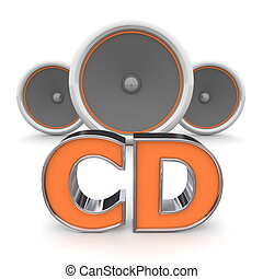 Speakers CD - Orange