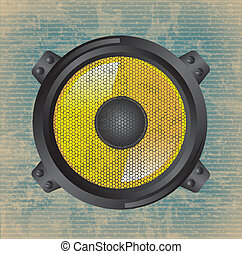 speakers design over vintage background vector illustration