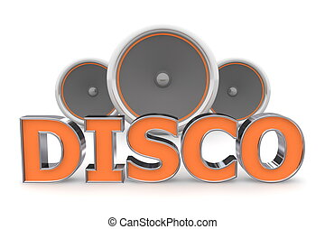 Speakers Disco - Orange