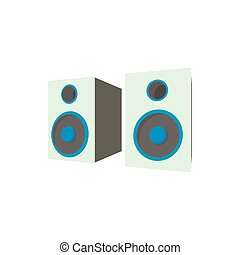 Speakers icon in cartoon style