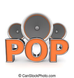 Speakers Pop � Orange