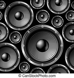 Speakers seamless background. - Speakers seamless background...