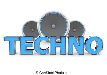 Speakers Techno - Blue