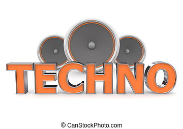 Speakers Techno - Orange
