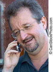 Speaking on phone